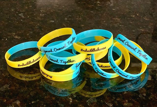 Selling these cute rubber bracelets to support the Bahamas! 100% of the proceeds will be donated! Please let me know if you would like one. Any amount will help 🖤💛💙 #rebuildbahamas 🇧🇸 #ItMattersToMyrland  Accepting donations through Venmo: @ Alicia-Franzello **I would like to try to get $5 per bracelet but will accept as little as $2! Anything helps! If you'd like me to mail it to you please let me know and add $2 for shipping!