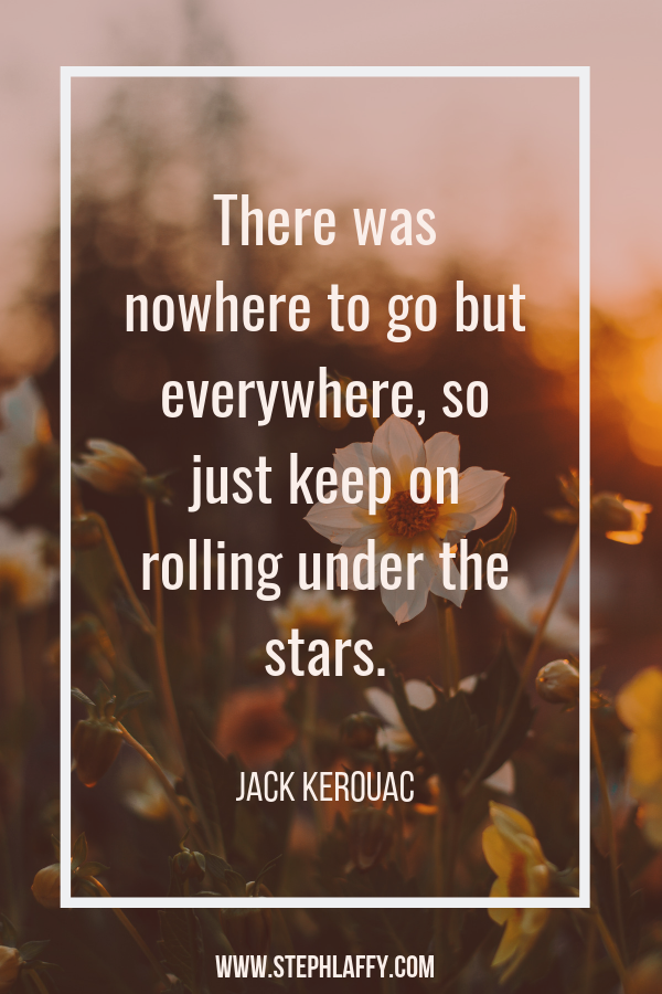 Jack Kerouac inspiration for the win