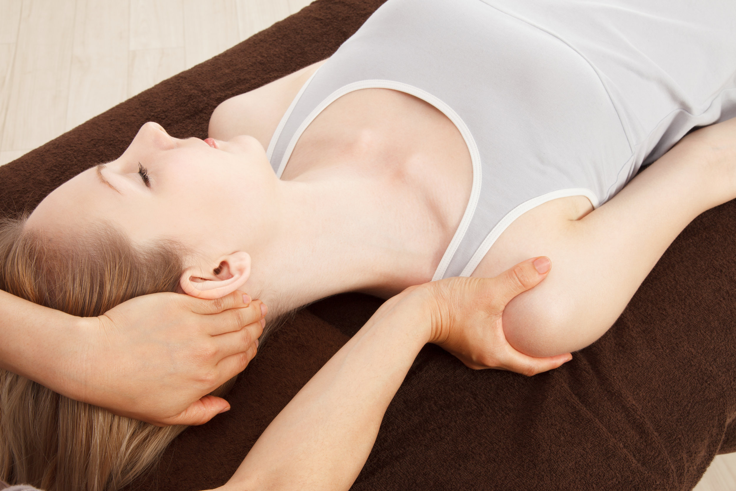 Gentle - Non-invasive, gentle touches that relieve pain and correct misalignment of the Atlas Subluxation Complex.