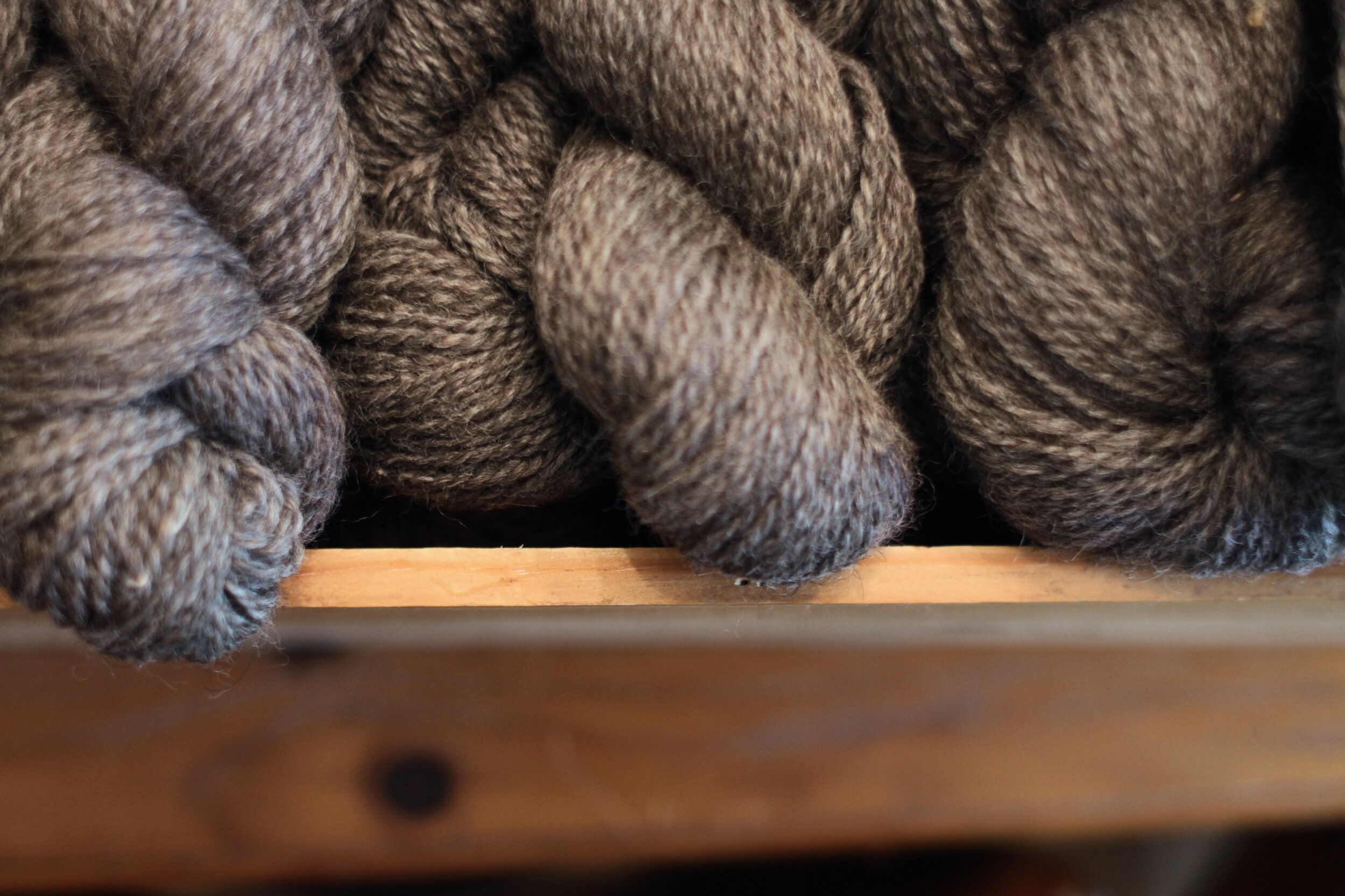 River - Mill-spun Border Leicester wool yarn.Click to learn more.