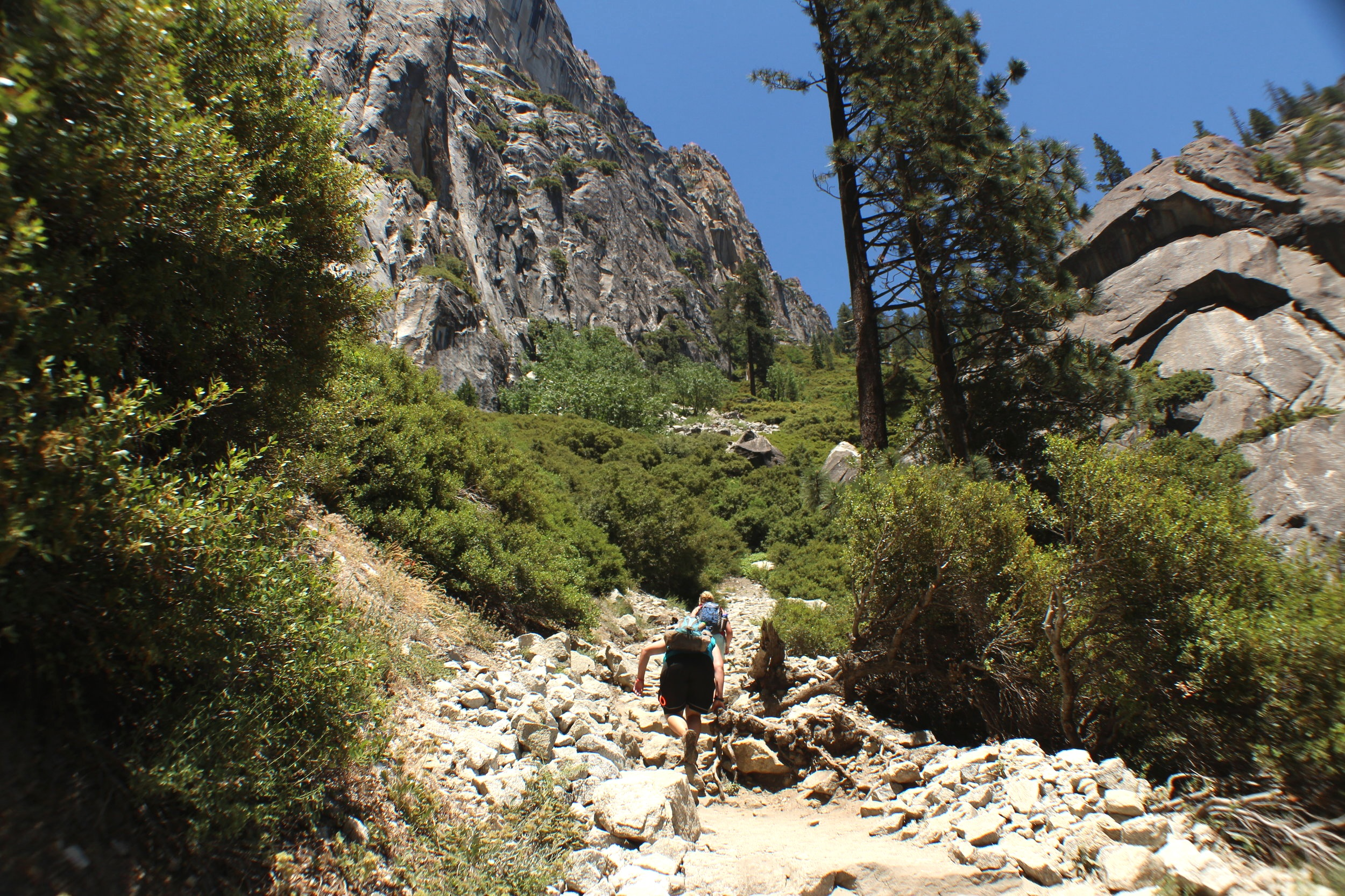 Halfway mark to the top of Upper Yosemite Falls