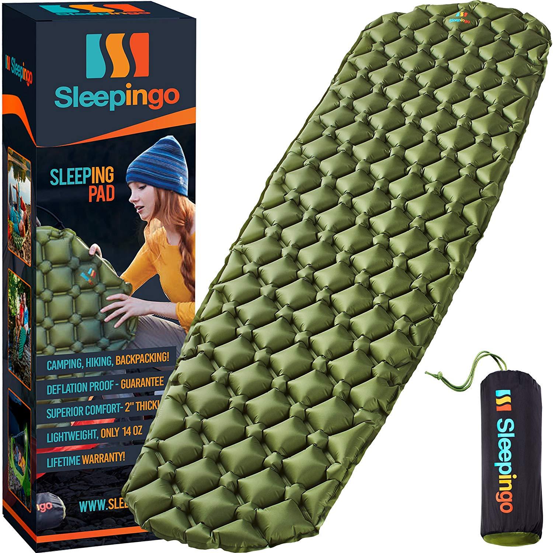 Sleepingo Camping Sleeping Pad - Ultralight 14.5 OZ