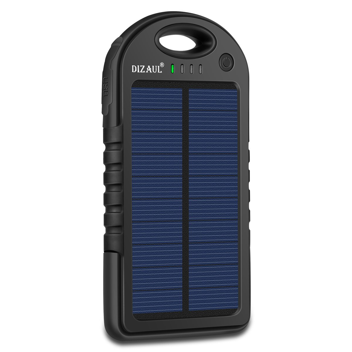 Portable Solar Power Bank - Waterproof/Shockproof Battery Bank for Cell Phone