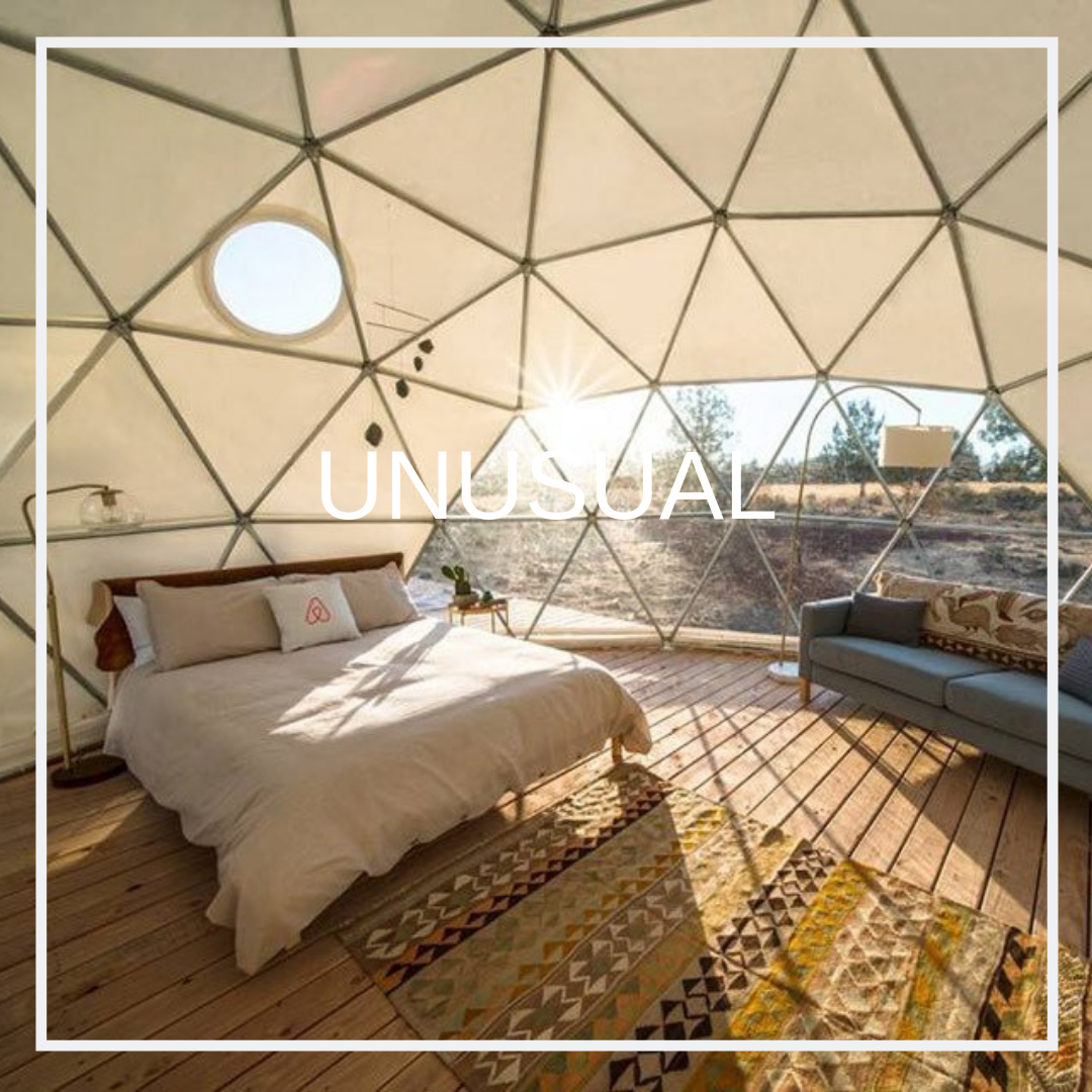 UNUSUAL - Unique accommodations to make your trip a truly memorable experience.