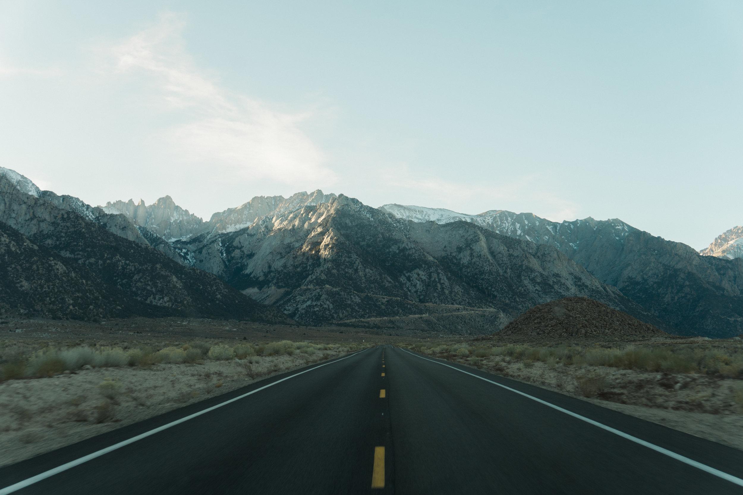 Whitney Portal Road.