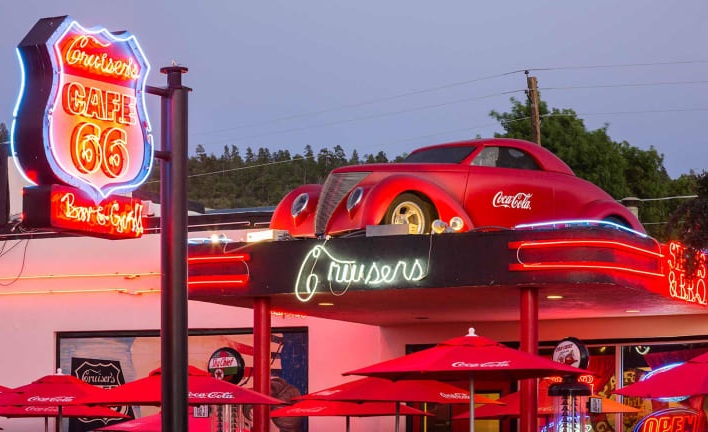 Cruiser's Cafe in Williams, Arizona.