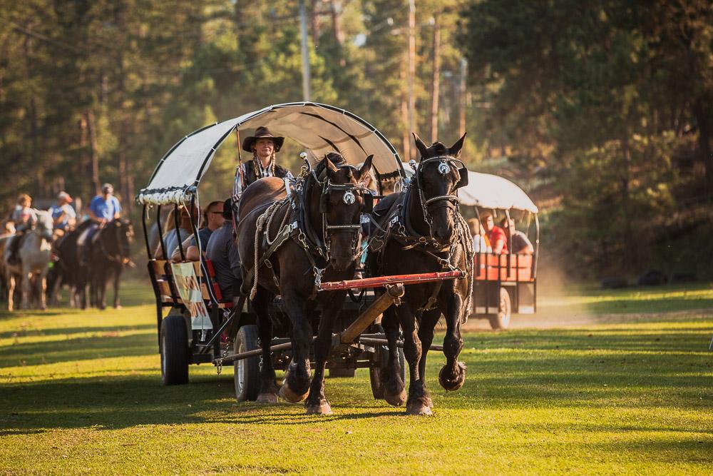 Enjoy a chuck wagon dinner and ride