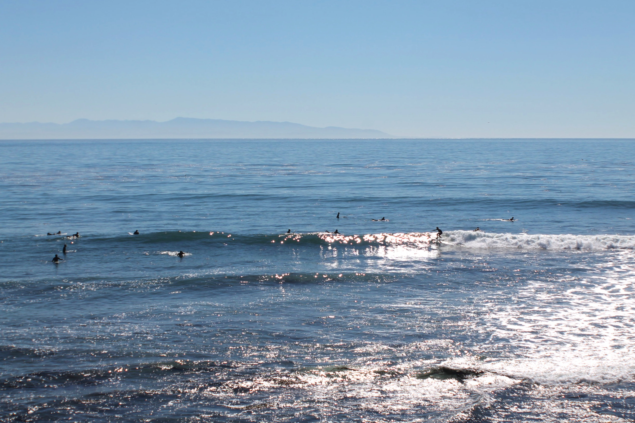 Surfing in Santa Cruz