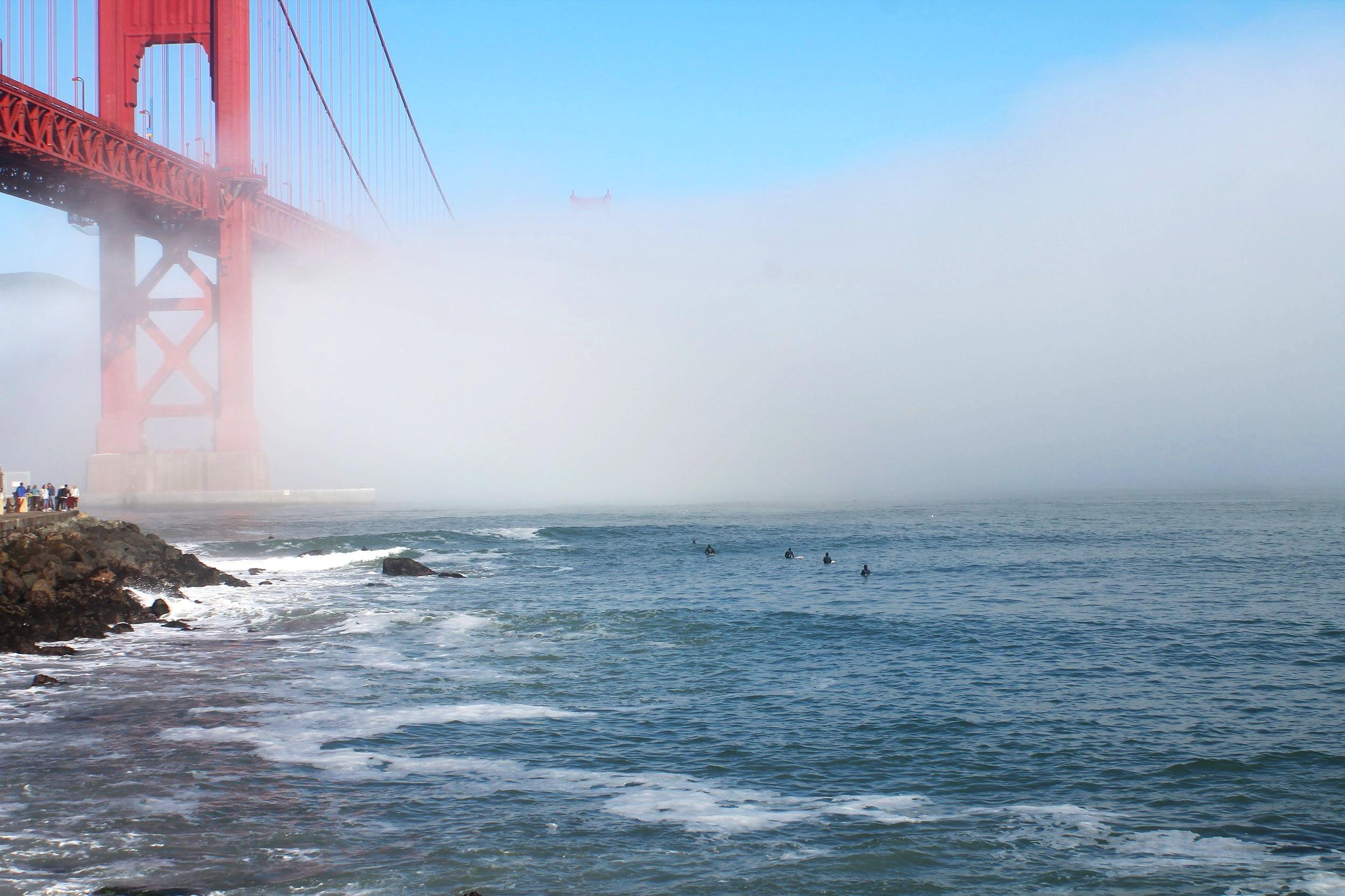 Surfing Golden Gate Bridge