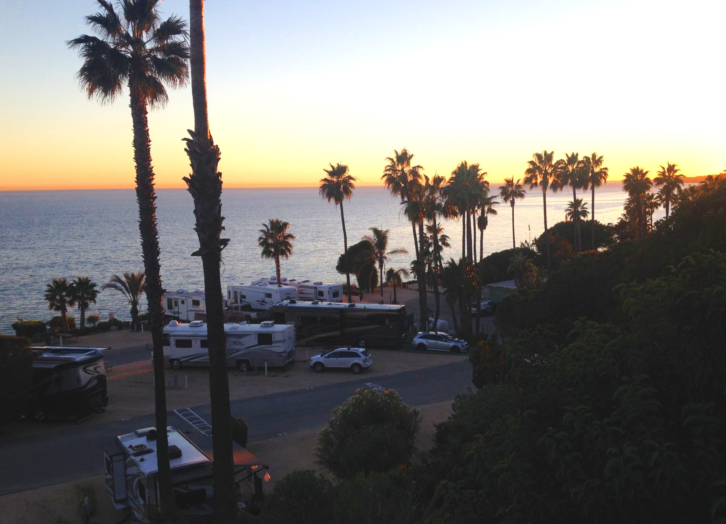 The view from our campground in Malibu, California.