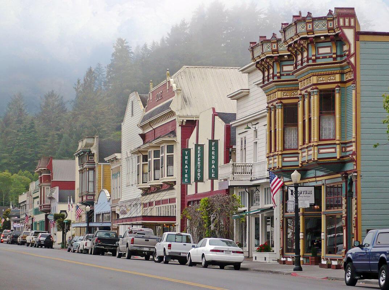 Main Street in Ferndale, California.