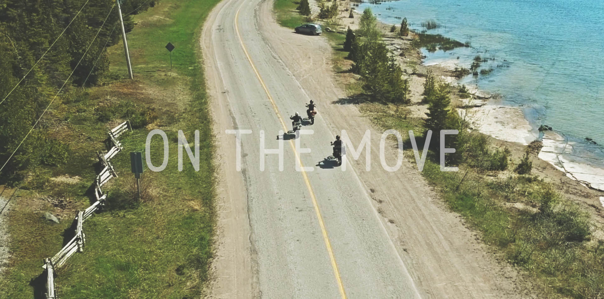 motorcycle on the move
