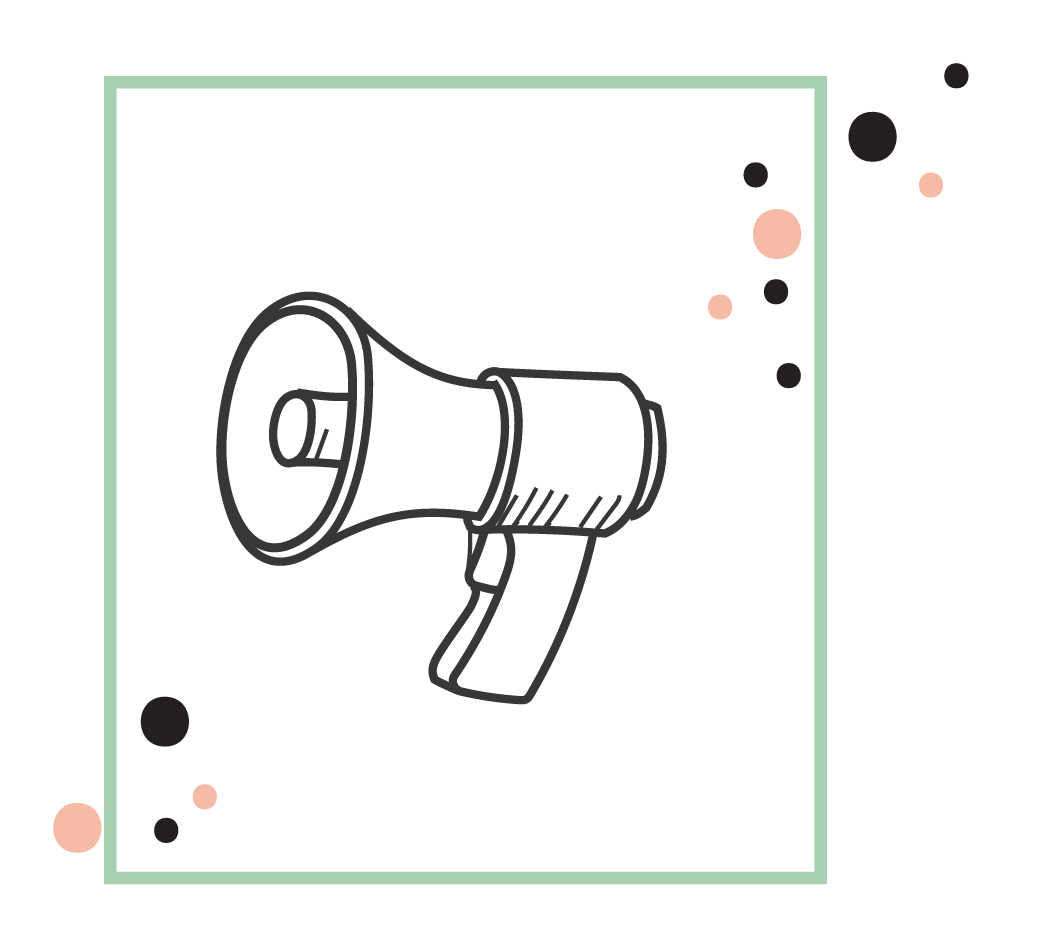 an illustration of a megaphone signifying compelling ad copy that gets attention