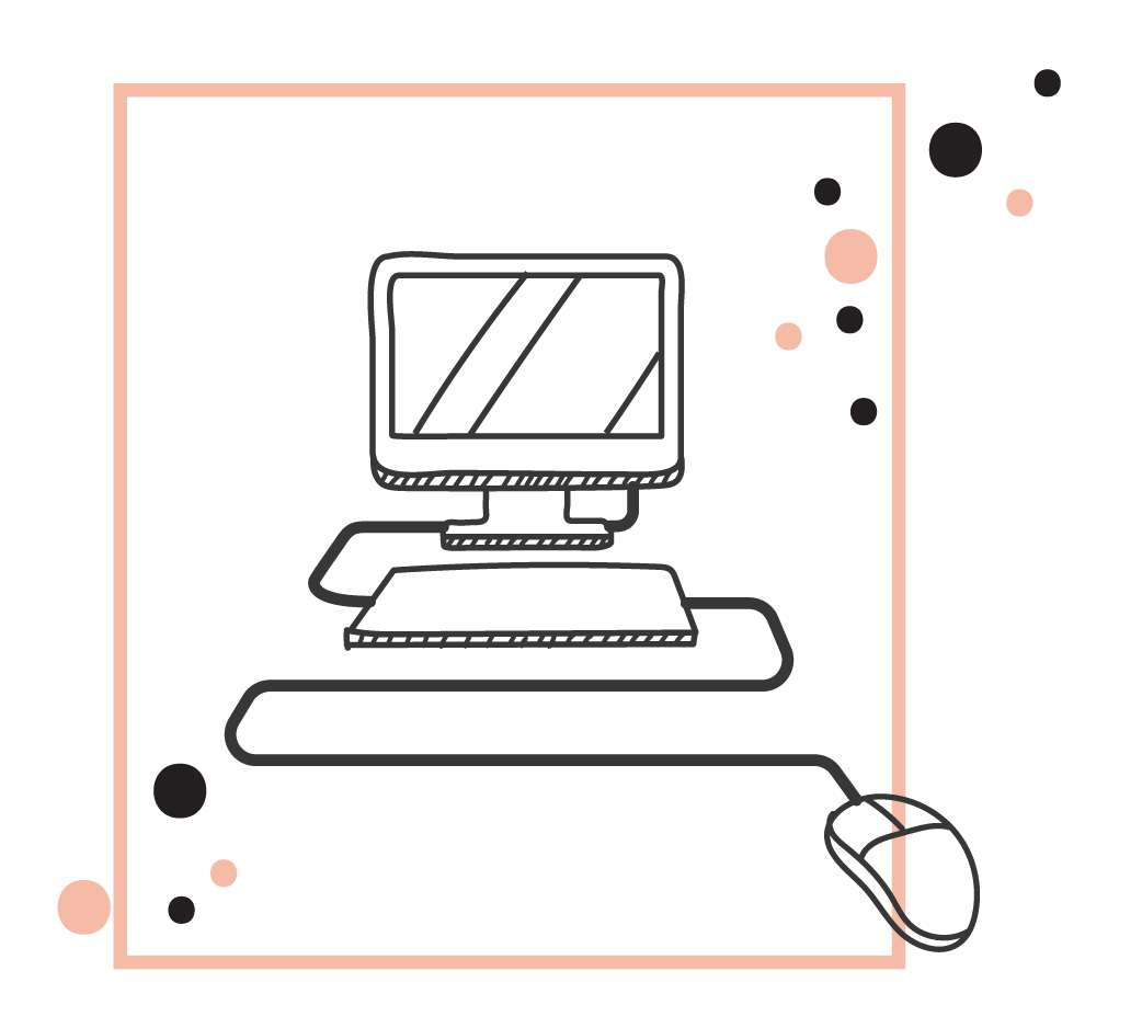 an illustration of a computer signifying professional ad graphics