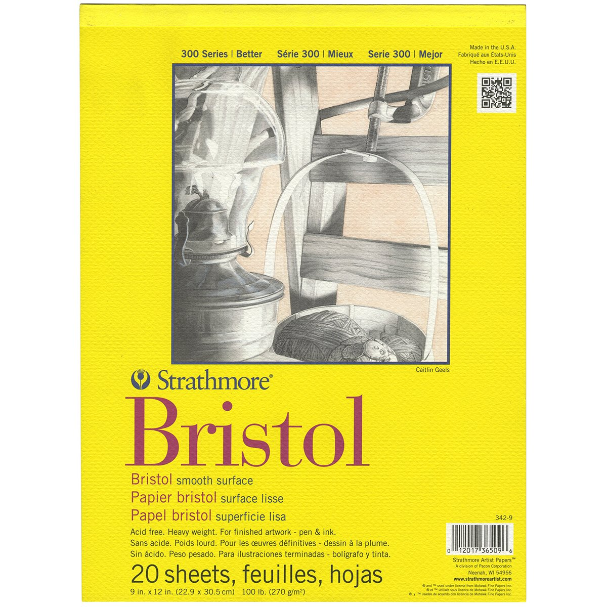 Bristol Smooth Surface Paper   This is what I use for all the custom lettering I create for clients. It has a smooth surface and is thicker than card stock. It is my favorite type of paper.