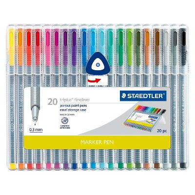 Staedler Triplus Fineliner   I love the variety of colors the fineliners come in. They are perfect for bullet journaling. They come in a 0.3 mm tip and literally never dry up.