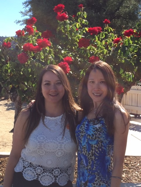 My little sister Katherine and me in Napa.