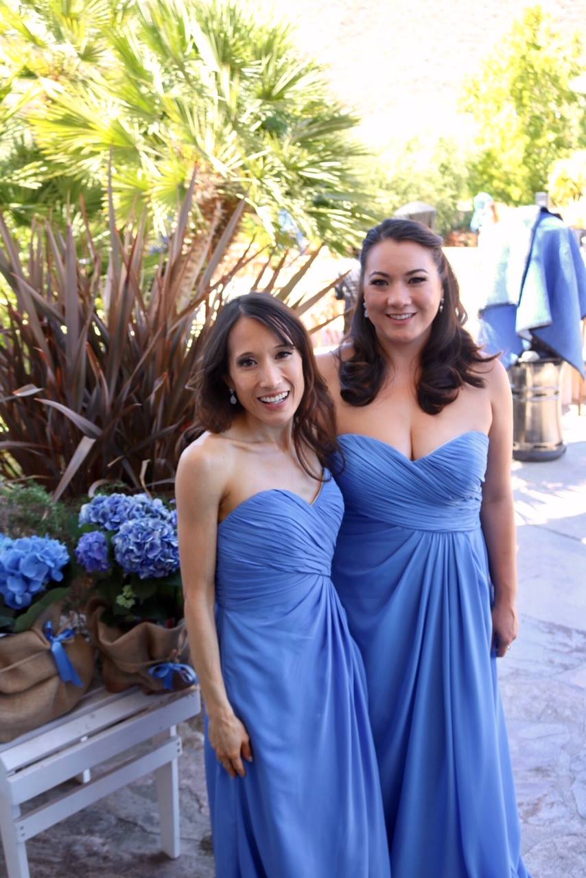 Bridesmaids at our cousin Natalie's wedding in 2018.