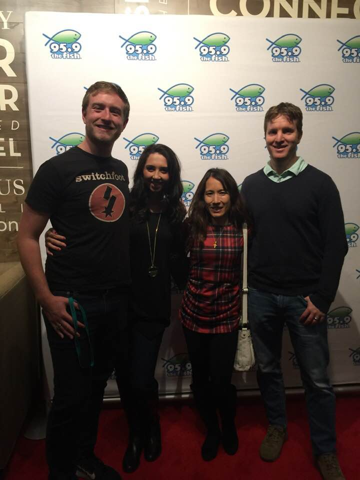 Madison and her husband Tristan on our double-date at the Fish Christmas Concert in 2018.
