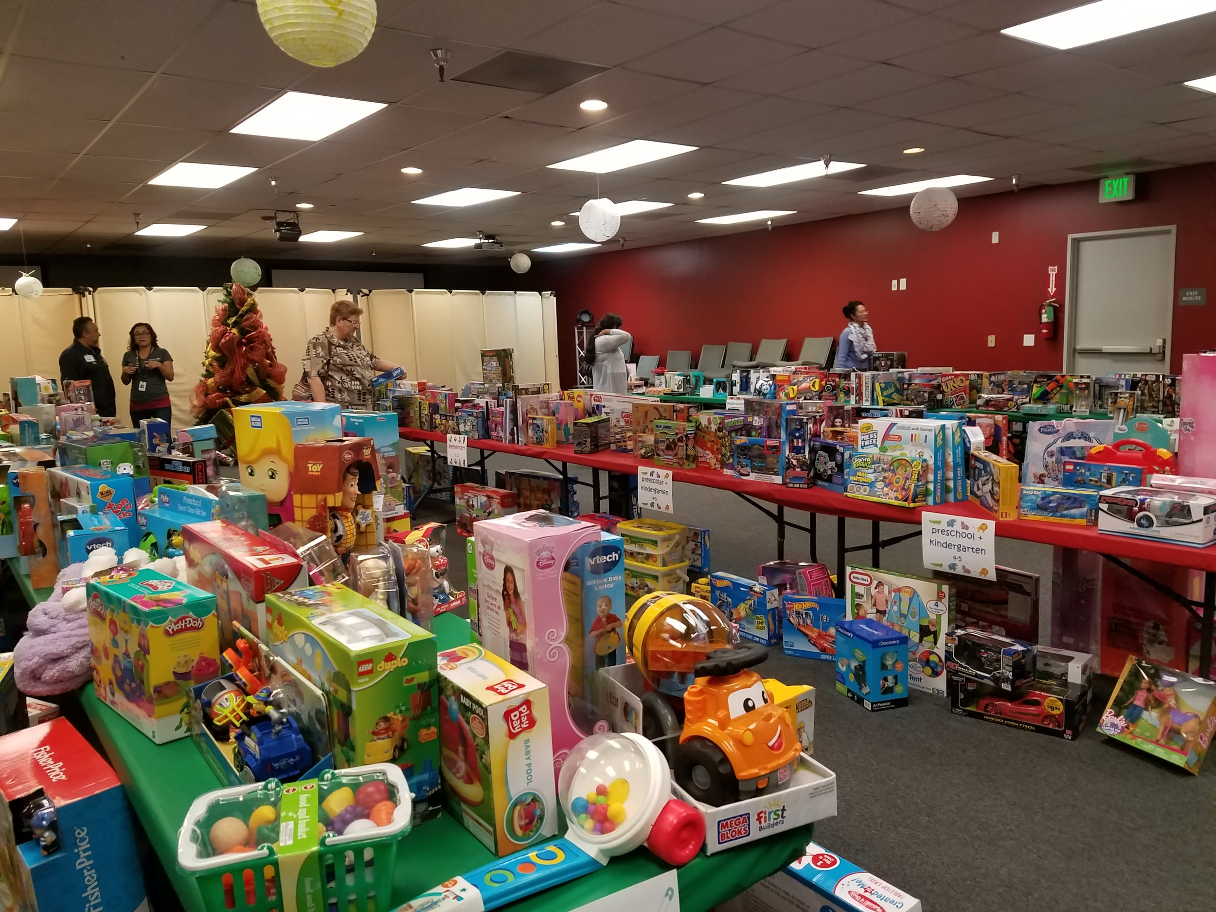Christmas gifts for foster children in need.