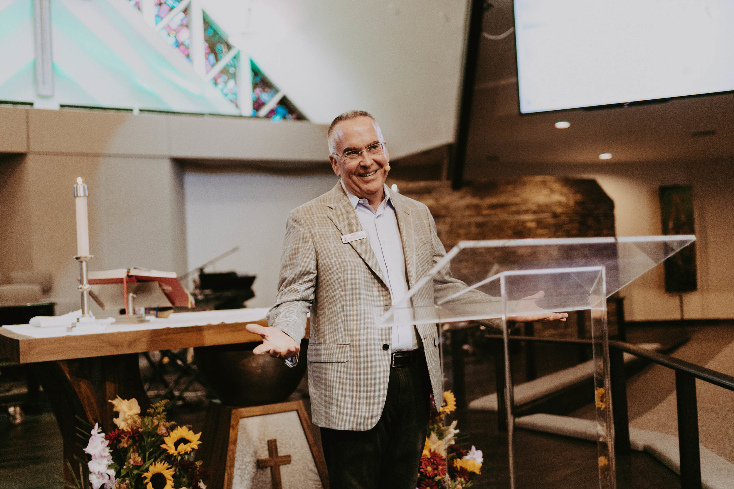 Pastor Tom Brashears, senior pastor at Good Shepherd Lutheran Church in Irvine, Southern California, delivered a sermon which helped Madison learned to forgive.