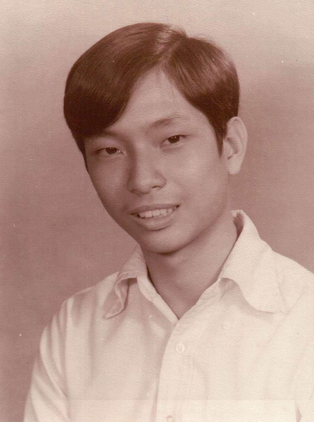 Pastor Vince's high school year book photo.