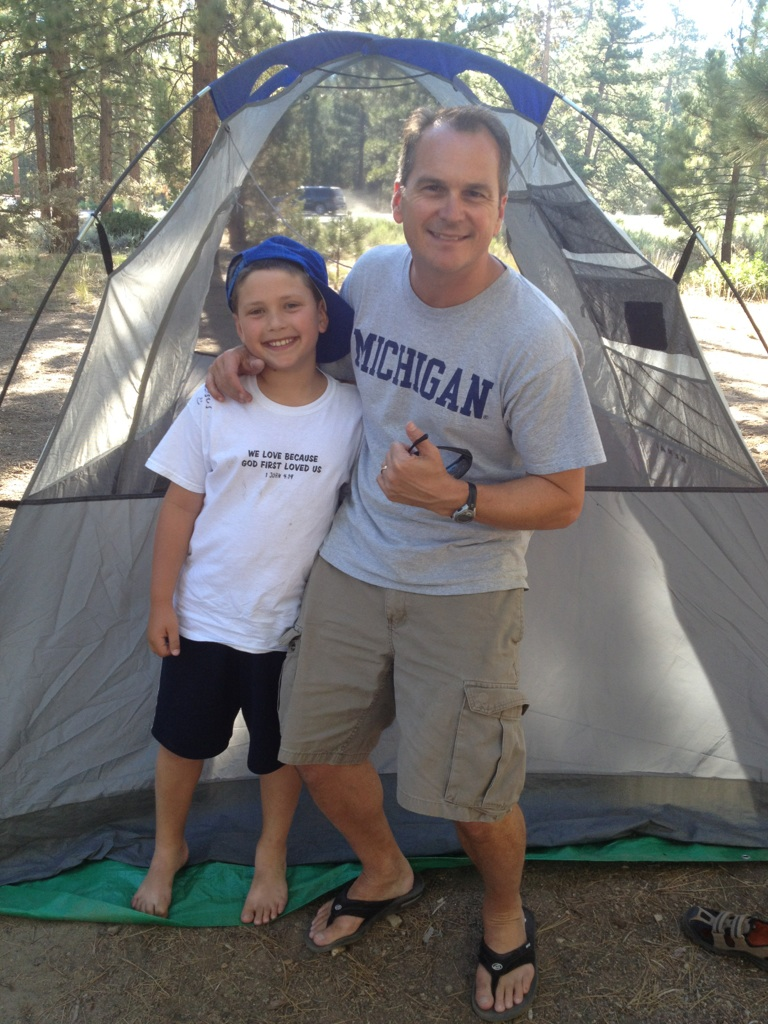 Pastor Mike and son Ethan enjoy the great outdoors.