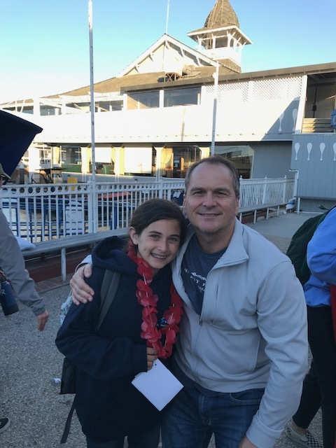 Pastor Mike celebrates with daughter Isabella at her 6th grade Catalina Island trip.