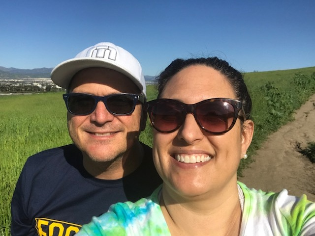 Pastor Mike and wife Francheska explore the trails together.