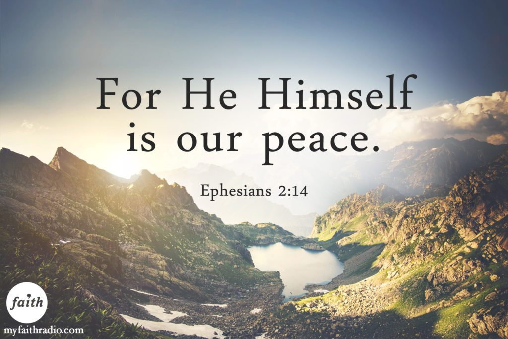 This is one of the verses on the Peace by Believing  website.