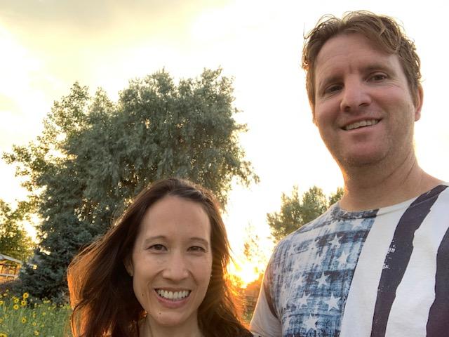 Sunset stroll in Brighton, Colorado.