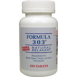 Natural Relaxant FORMULA 303® Natural Relief For Muscle Spasm, Tension and Stress