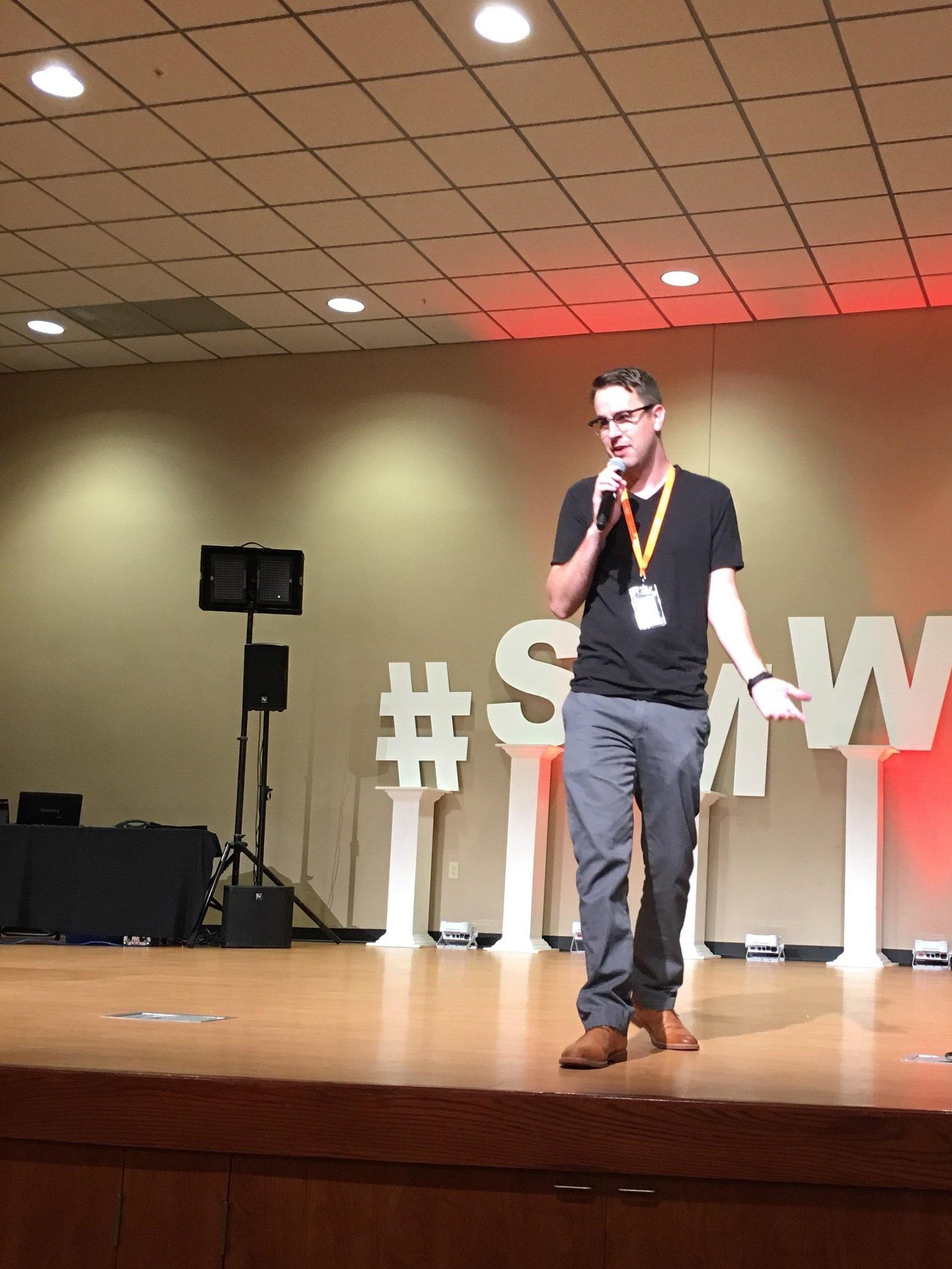 Tony Christensen - Speaking at Social Media Week Lima