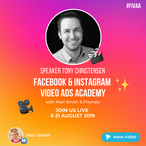August 28th - Online - Facebook & Instagram Video Ads Academy Presented by Wave.Video
