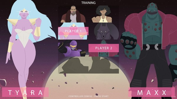 Punch Planet is developed by 3 longtime competitors in the fighting game community. Their focus is to create a fighting game with a solid foundation of competitive mechanics while also introducing a new depth of story, humor, and design.