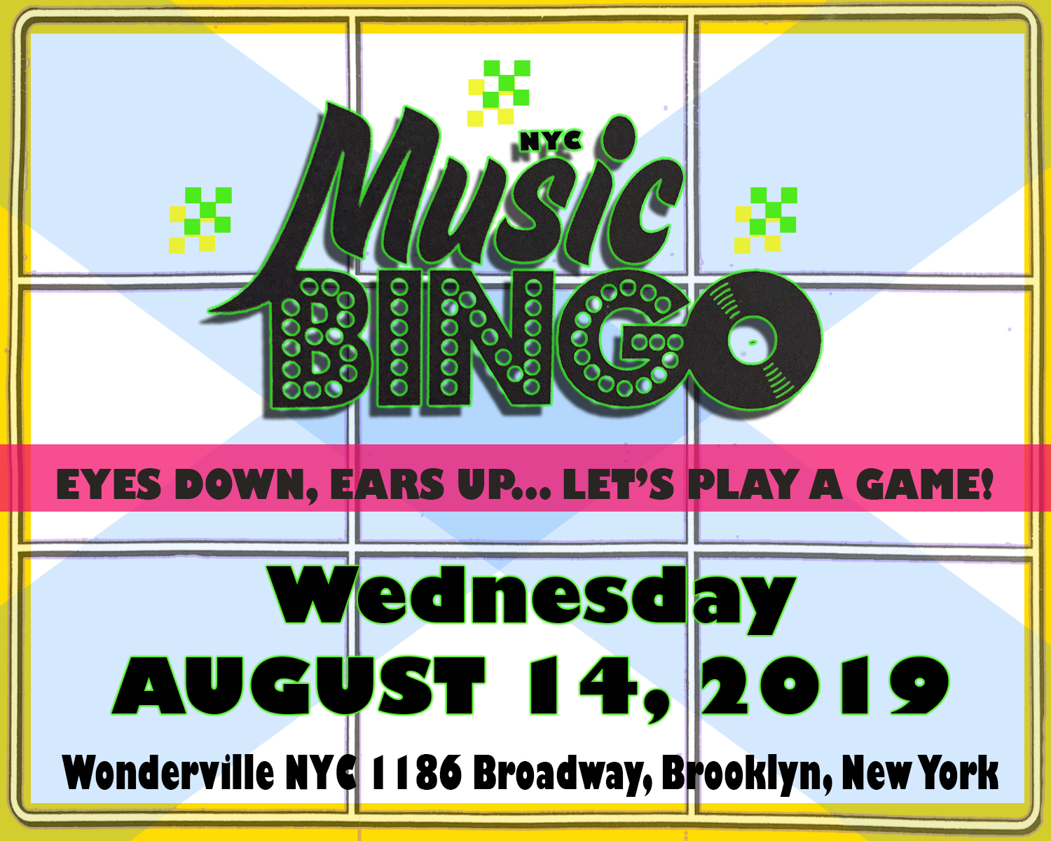 Tickets:  https://withfriends.co/Event/2121874/Music_Bingo_NYC_at_Wonderville