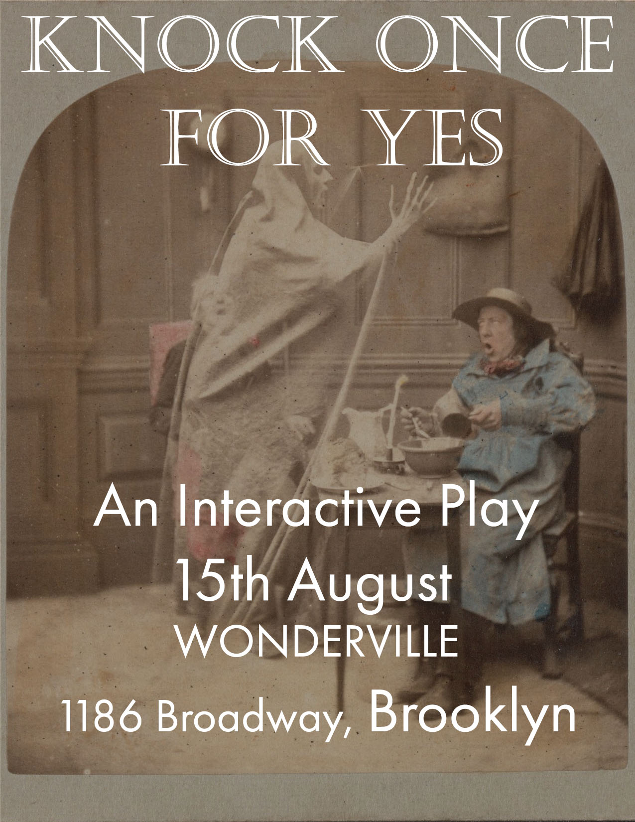 Tickets:  https://withfriends.co/Event/2147384/Knock_Once_For_Yes
