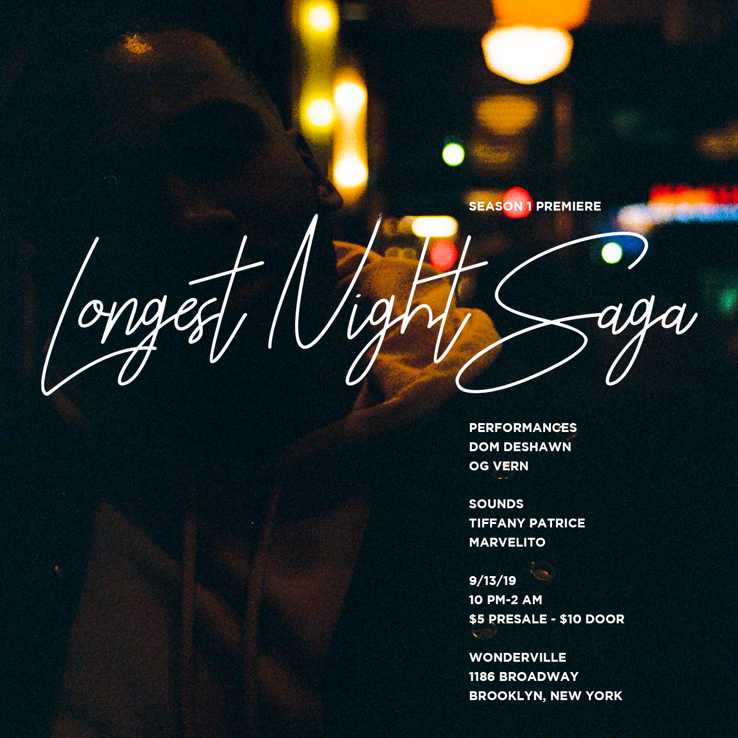 Tickets:  https://withfriends.co/Event/2416844/Longest_Night_Saga_Season_1_Premiere