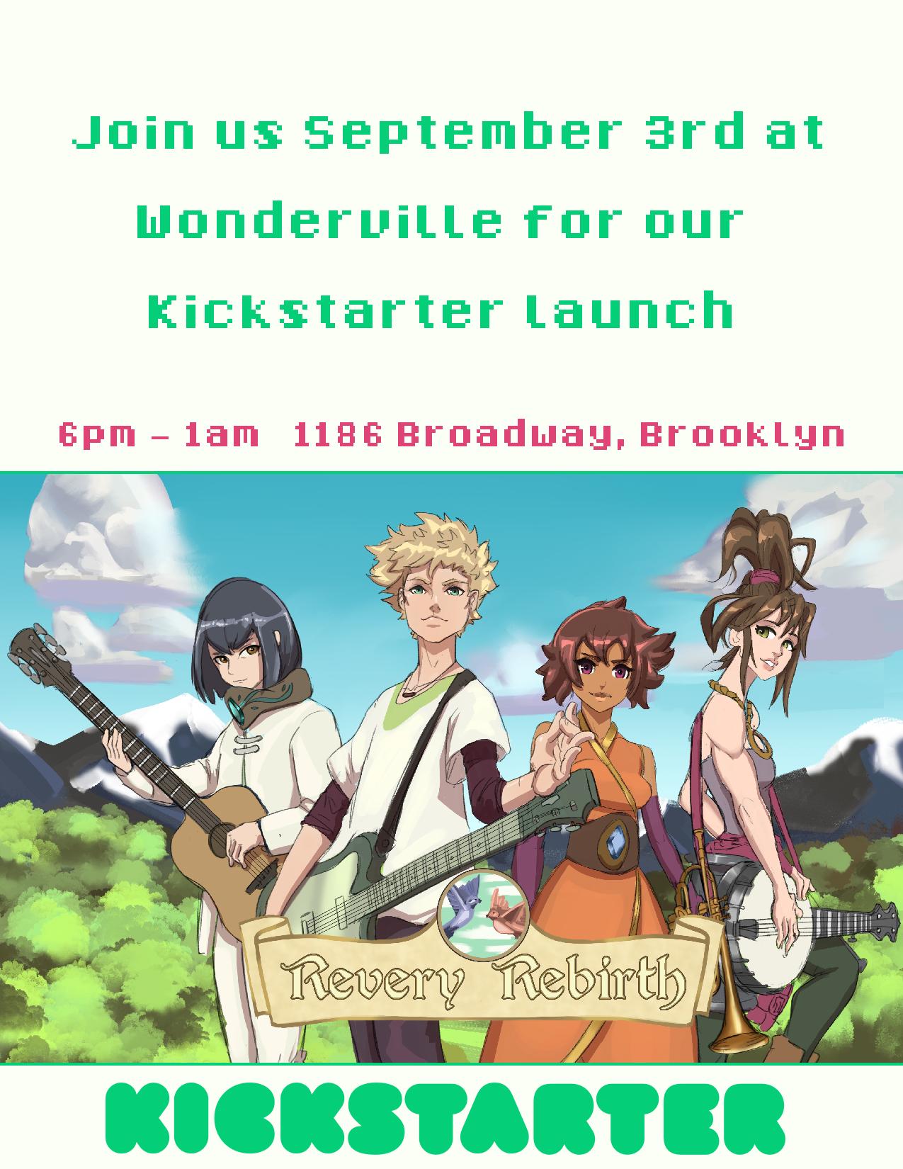 RSVP:  https://withfriends.co/Event/2492315/Revery_Rebirth_Kickstarter_Launch