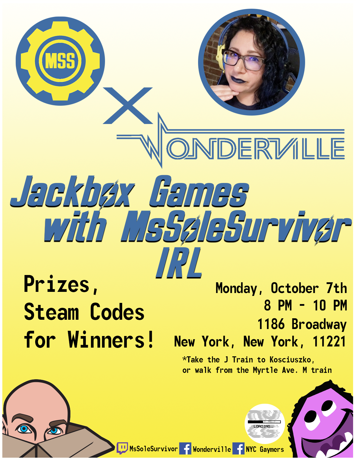 Tickets:  https://withfriends.co/event/2745962/jackbox_games_with_mssolesurvivor_irl