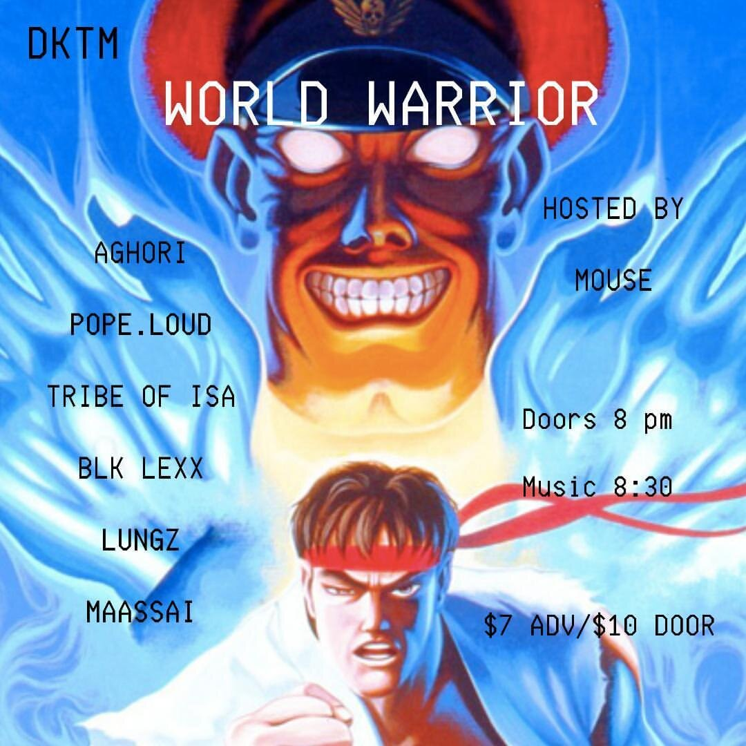 RSVP:  https://withfriends.co/event/2791806/dktm_presents_world_warrior
