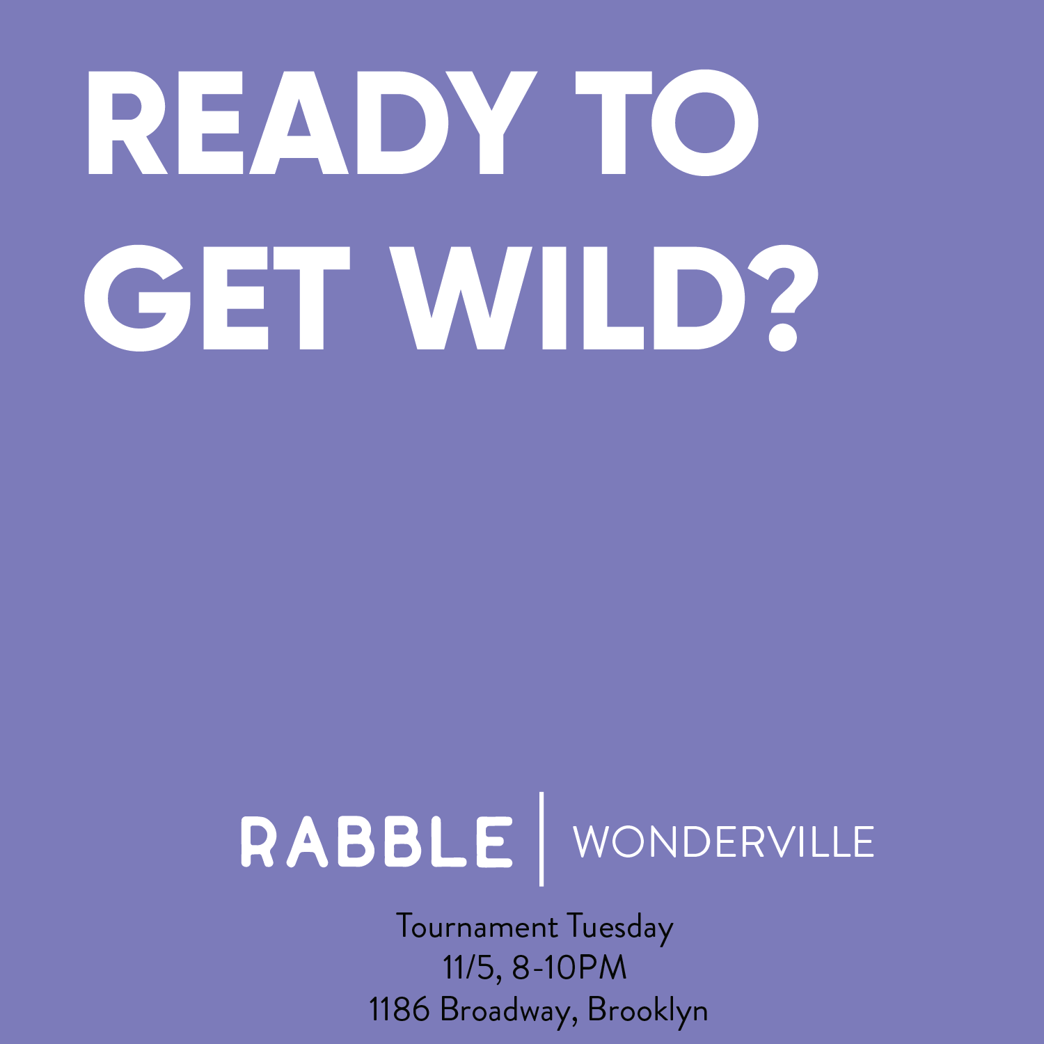 RSVP:  https://withfriends.co/event/2852860/tournament_tuesday_rabble