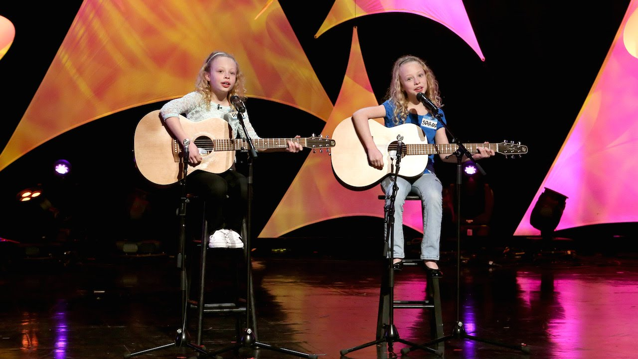 Abby and Sarah performing on The Ellen DeGeneres Show.