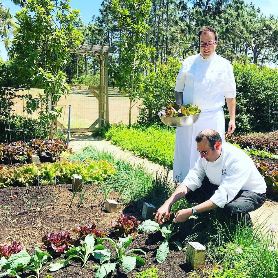 Wait, doesn't everyone get to watch a pair of Ritz-Carlton Orlando chefs hand pick your meal's ingredients fresh out of a garden?