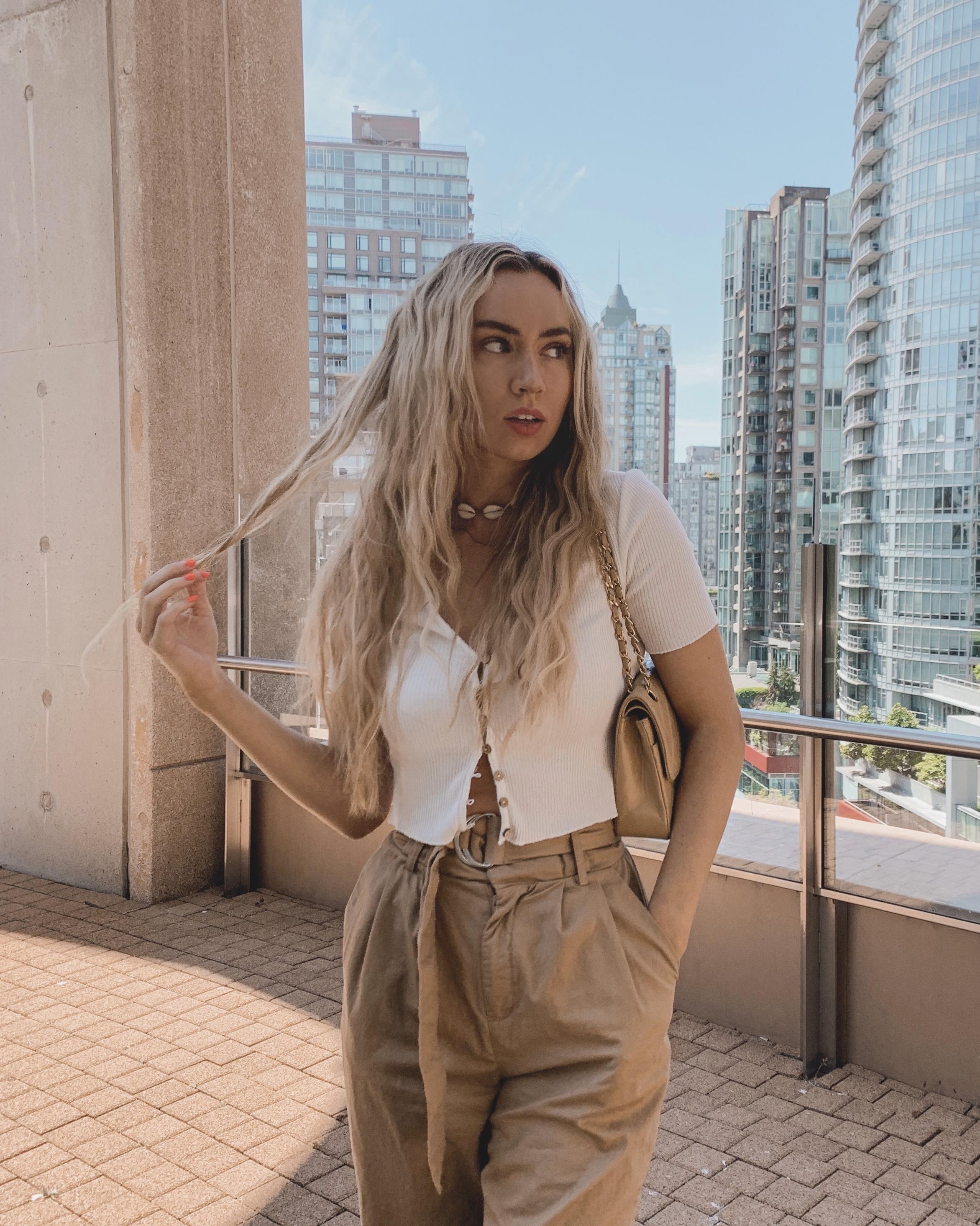 the look - Zara topVintage ChanelZara pants