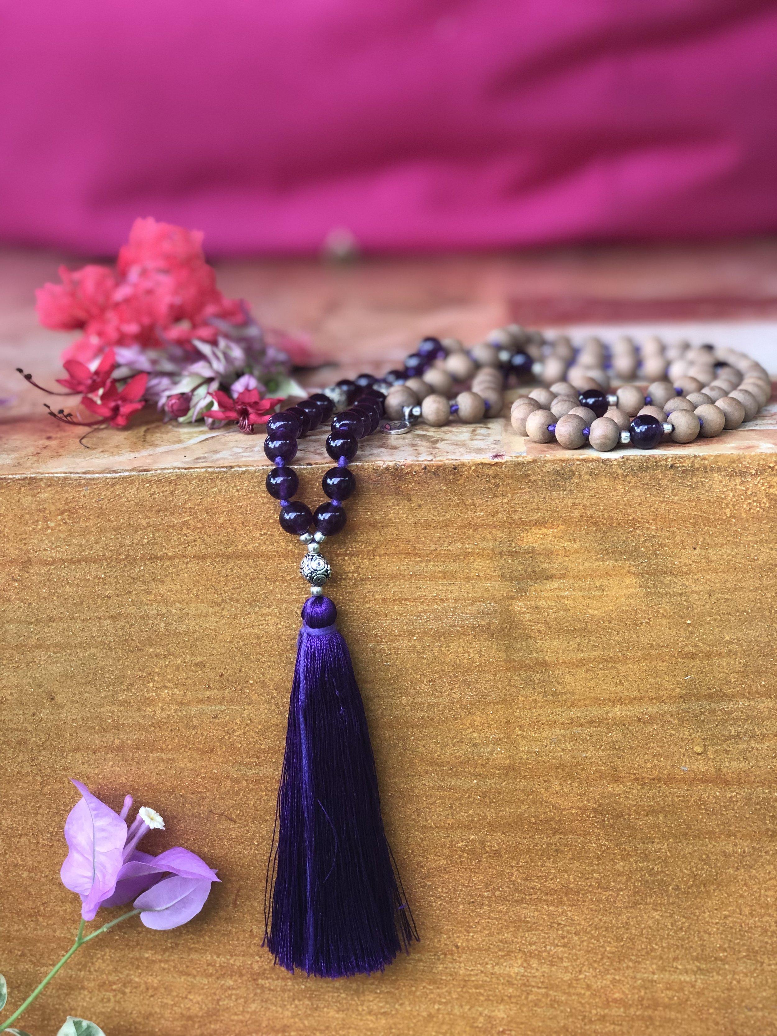 Sandalwood with Purple Amethyst