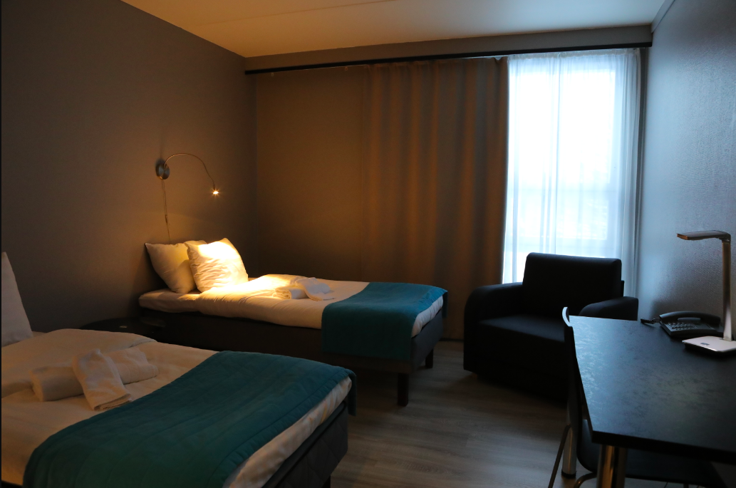 Saunallinen Deluxe 2hh on saavilla parivuoteella tai erillisillä vuoteilla.