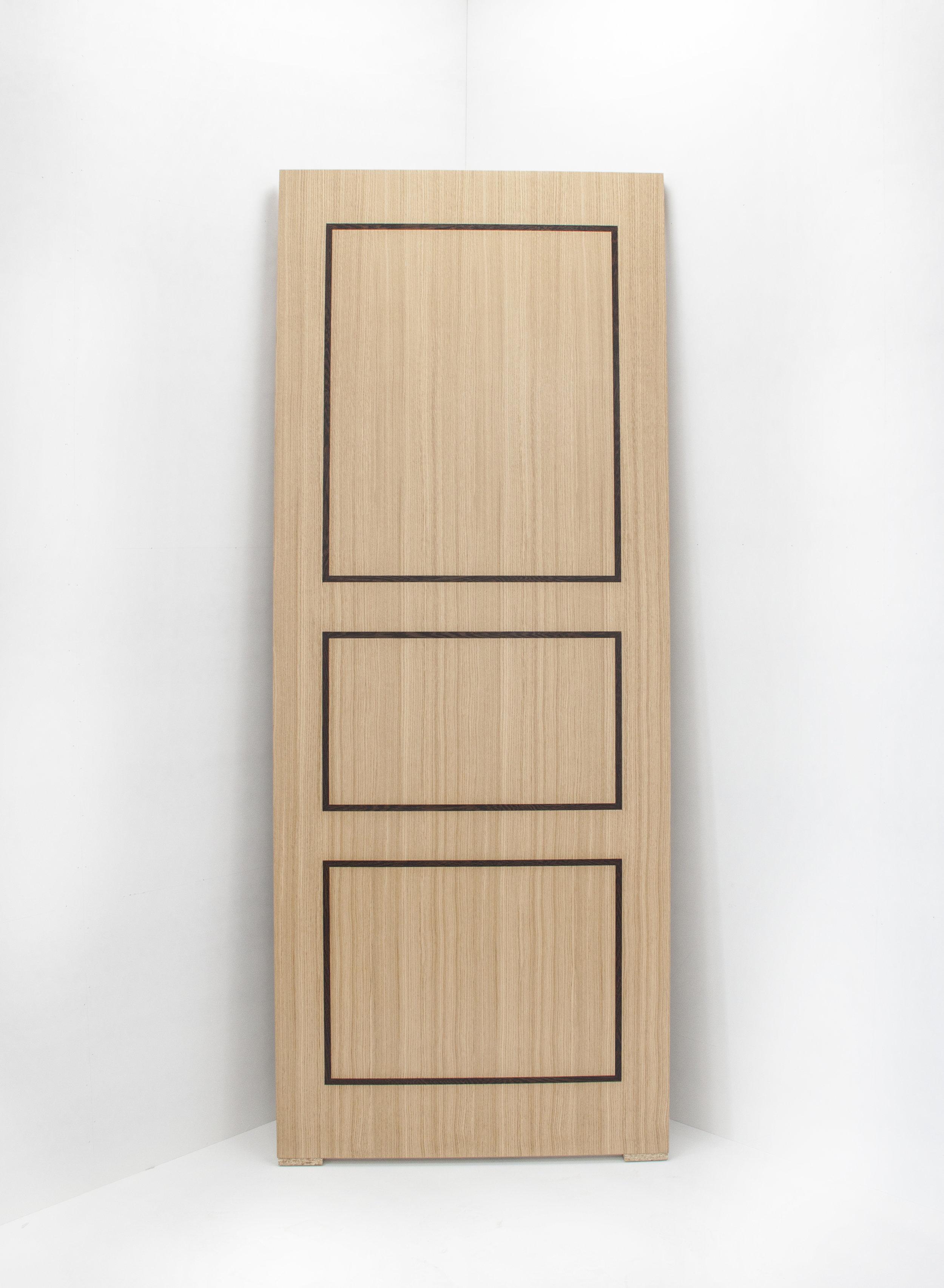 Quarter Cut European Oak door with Wenge inlay