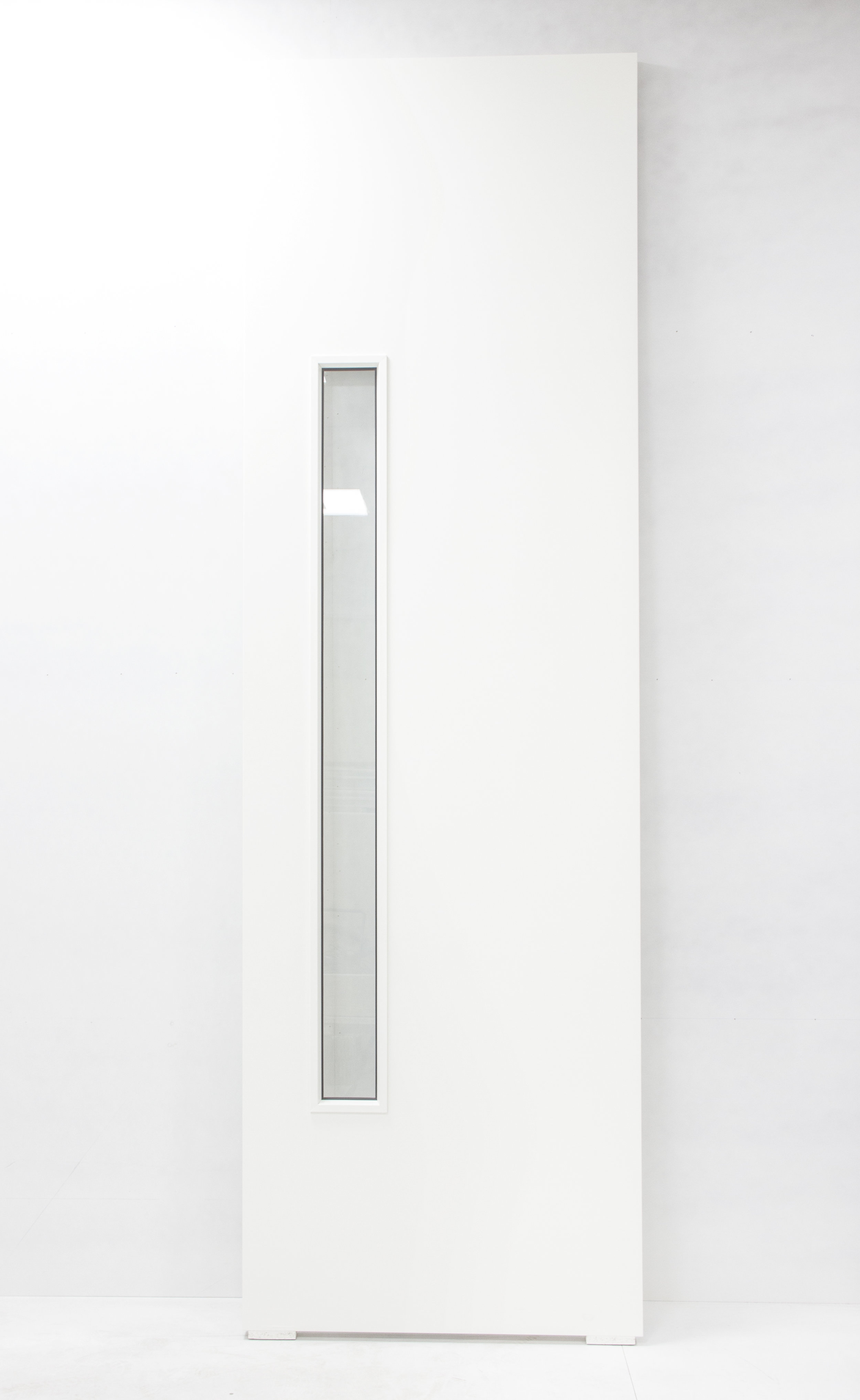 White laminate door with vision panel