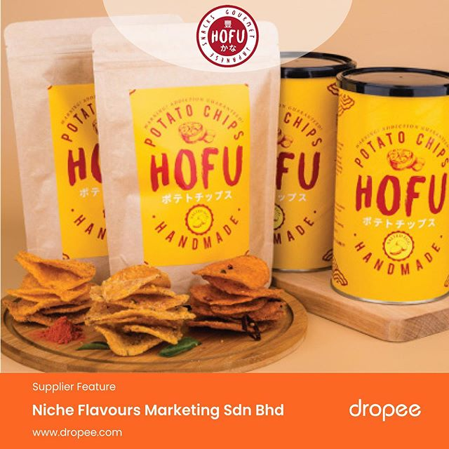 When it comes to snacks, Malaysians love unique flavours such as salted egg, cheese, green curry, and spicy Korean flavourings. . Guess what? Now, you can get supplies of these trending flavoured snacks from our latest supplier, Niche Flavours Marketing Sdn Bhd! All at wholesale prices, only on Dropee.com! . Copy and search the link to check out their official store - http://bit.ly/2YObRoh . #Dropee #B2BeCommerceMarketplace #newsupplier #hofubrand #snacks #potatochips #wholesale #buyonline